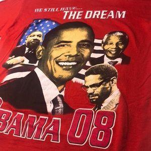 2008 Obama T-Shirt Nelson Mandela MLK Malcom X Tee